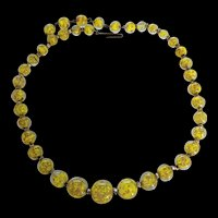 Yellow Murano Glass Necklace