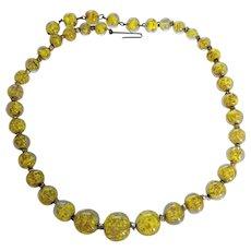 Yellow Murano Glass Necklace