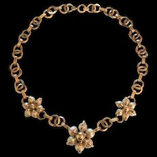 Mid Century Faux Pearl Necklace