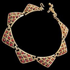 Red Rhinestone Necklace