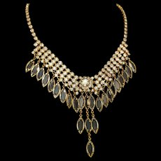 Vintage Dangling Rhinestone Necklace