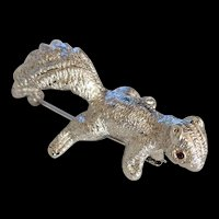 Brushed Silver Color Squirrel Pin