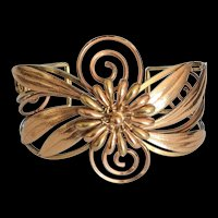 Krementz Wide Floral Bracelet