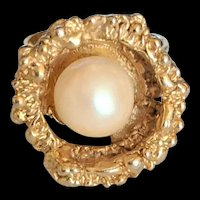 Faux Pearl Fashion Ring