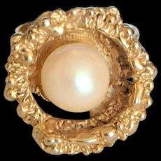 Faux Pearl Fashion Ring