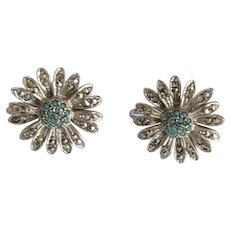 Sterling Marcasite Earrings