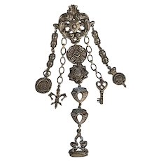 7 inch Victorian Revival Chatelaine Pin  by  ART