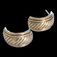 Sterling Silver Half Hoop Earrings