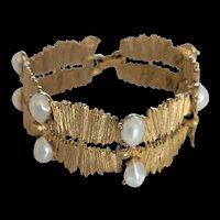 Vintage BSK Faux Pearl Bracelet