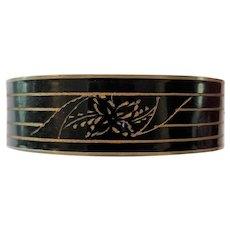 Victorian Revival Bracelet Black Enameled