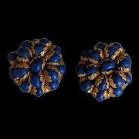 West Germany Blue Earrings