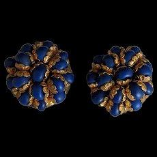 West Germany Blue Earrings