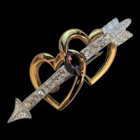 Hearts and Arrow Pin Art Deco Era