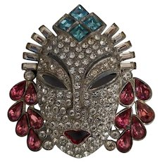 Face Pin Rhinestone Mask Asian Princess