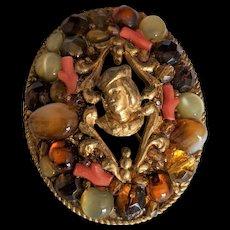 Italian Collage of Stones Pin