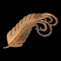 Ernest Steiner Sterling Silver Feather Pin