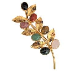Genuine Stone Scarabs Pin
