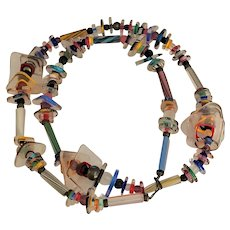 Awesome Vintage Artisan Art Glass Necklace