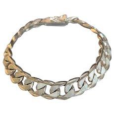 Mid Century Sterling Silver Link Bracelet