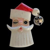 Retro Santa Christmas Pin