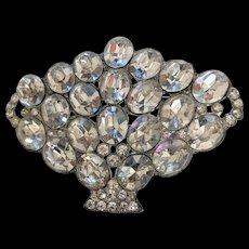 Art Deco Era Rhinestone Vase Urn Pin
