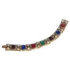 Jewel Colors Rhinestone Bracelet