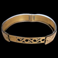Victorian Revival Hinged Bangle Bracelet