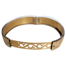 Victorian Revival Hinged Bangle Bracelet