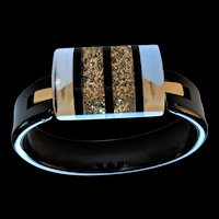 Confetti Black Bangle Bracelet