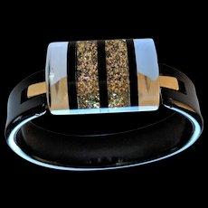 Confetti Black Bangle Bracelet