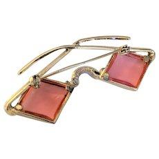 Hollycraft Eyewear Pin  Pink Lenses