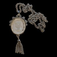 Intaglio Cameo Necklace