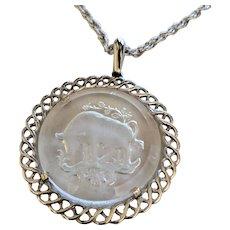Mid Century Trifari Taurus Necklace