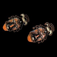 Coro Ethnic Tribal Mask Earrings