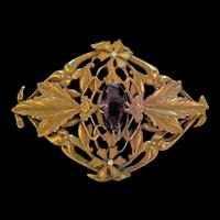 Superb Late Victorian Early Edwardian Rhinestone Sash Pin