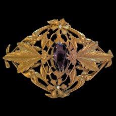 Superb Late Victorian Early Edwardian Rhinestone Sash Pin