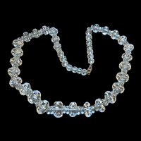 Vintage Faceted Rock Crystal Beads Necklace