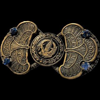 Superb Czechoslovakia Art Deco Buckle wears as Pendant Necklace