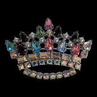 Rhinestone Crown Pin  B. David