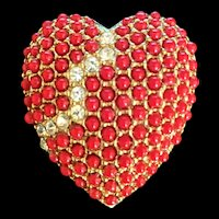 Red Broken Heart Pin by Art