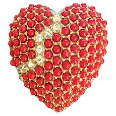 Red Broken Heart Pin by Art