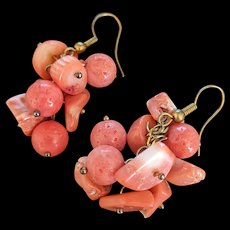 Salmon Coral Earrings