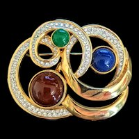 Mogul Colors  Cabochon Pin