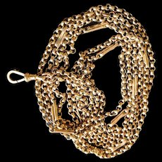 9k 9ct  Edwardian Long Guard Chain