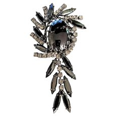 Juliana Hematite Rhinestones Pin