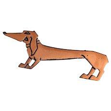 3.5 inch Copper Dachshund Dog Pin