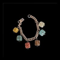 Art Glass Charm Bracelet