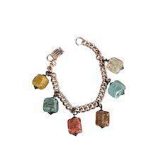 Art Glass Charm Bracelet