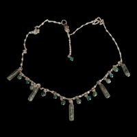 Sterling Silver Moss Agate Artisan Necklace