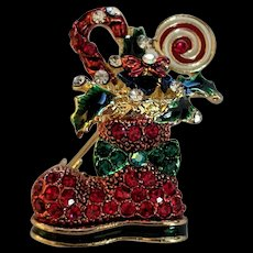 Absolutely Fun Christmas Boot Pin Pendant